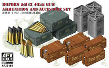 AFV Club - 1/35 Bofors & M42 40mm Ammunition & Accessories Set