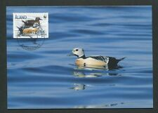 ALAND MK FAUNA WWF ENTE ENTEN DUCK MAXIMUMKARTE CARTE MAXIMUM CARD MC CM d8307