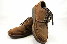 Clarks Men's Brown Leather Suede Look Active Air Lace Up Shoes Casual Shoes 8.5D