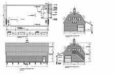 30'x60' GAMBREL BARN GARAGE SHOP 60'X30' BARN GARAGE PRINTS #3060 GBL