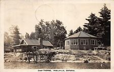 Canada Postcard Real Photo RPPC Ontario 1948 NOELVILLE Camp Thomas Dock Cottage2