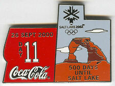 2000 SYDNEY OLYMPIC COCA COLA PIN OF THE DAY SILVER PIN SET DAY 11