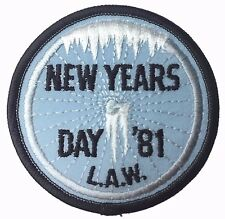 Vintage Bicycle Tour New Year's Day 1981 Snow Ice On Wheel  Cycling Patch New