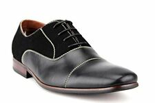 New Mens Cap Toe Suede Blend Black Or Brown Dress Shoes Lace Up Ferro Aldo 19506