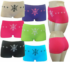 6 LADIES BOXER SHORTS FREE SIZE SEAMLESS UNDERWEAR WOMEN PANTIES BOYSHORTS