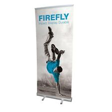 ROLL UP BANNER display 80x200 espositore roll-up autoavvolgente PVC Hi-Quality
