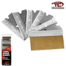 100pc Razor Blades Single Edge Extra Sharp Heat Treated Safety Knife Scrapers
