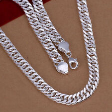 "New Wholesale Sterling Solid Silver 10mm*20"" Men's Chain Necklace N039"
