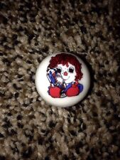 RAGGEDY ANN CARTOON IMAGE'S ON COLLECTOR MARBLE