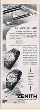 PUBLICITE ADVERTISING 084 1956 ZENITH montre le mur du son