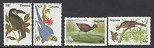 BIRDS :1990 GUYANA Birds set + M/Sheets(2) SG2676-9+MS2670 never-hinged mint