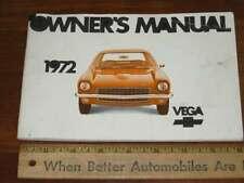 1972 Chevrolet Vega Owners Manual (CDN)