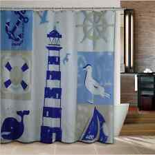 Modern Style Seascape Beach Waterproof Nautical Natural Maritime Shower Curtains