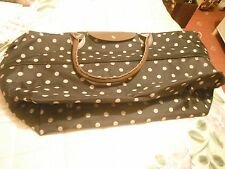 Travel bag or shopping bag brand new expandable black and brown