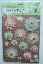 ~BAILEY PAPER FLOWERS~ Grand Adhesions Stickers K & Company CO; FAMILY scrapbook