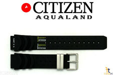 Citizen BJ2000-09E Aqualand 20mm Black Rubber Watch Band S/S Buckle BJ2004-08E