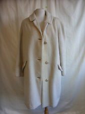 Ladies Coat - Luxury Mohair, size L, cream, mohair, used, marks, worn areas 2316