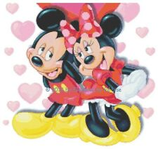 "Disney's Mickey and Minnie Mouse ""Valentines Forever"" Cross Stitch Pattern CD"