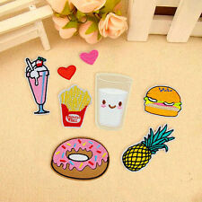 8X Donuts Fruit Embroidery Sew Iron On Patch Badge Bag Clothes Fabric Applique F