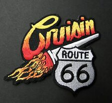 CRUISIN CRUISING ROUTE 66 USA EMBROIDERED PATCH 3 INCHES