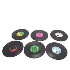 6-TEILIG Getränke Halter Matte Geschirr Platzdeckchen D4 Vinyl Untersetzer