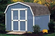 10 x 8 Gambrel  Roof / Barn Shed Building Plans, Material List Included  #31008