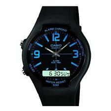 Casio Men's Analogue & Digital Resin Strap Alarm Stop Watch, Black