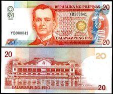 PHILIPPINES 20 PISO PESO 2005 P 182 UNC