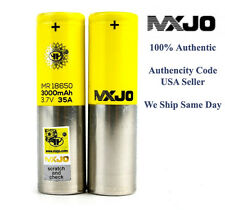 (2) MXJO IMR 18650 Battery 3000 MAH 35A 3.7V High Drain USA SELLER 100% REAL