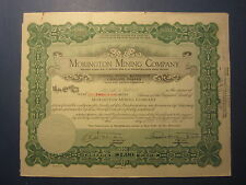 Old Vintage 1922 - MORINGTON MINING CO. - Stock Certificate - NEVADA