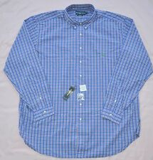 New 3XB 3XL BIG 3X POLO RALPH LAUREN Mens button down dress shirt blue checks 19