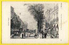 cpa Gravure Dessin Papier Fort ANCIEN PARIS Les Grands BOULEVARDS vers 1840