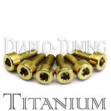 Gold Anodized TITANIUM - Saddle Intonation Screws Set (6) For Floyd Rose Tremolo