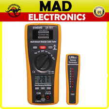 Combination DMM & LAN Cable Tester 10Base-T, 10Base-2, RJ45/11, 258A, TIA 568A