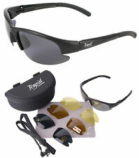 Rapid Eyewear UV400 Black Mens/Womens Anti Glare POLARIZED SUNGLASSES FOR SPORTS