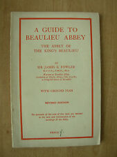 VINTAGE TOURIST BROCHURE GUIDE - A GUIDE TO BEAULIEU ABBEY WITH GROUND PLAN