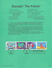 FDC. # 3414-3417 Stampin the Future 33 cent  2000 USPS Souvenir Page Stamp