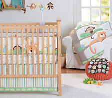 GARANIMALS 3 Piece Nursery Crib Set Tropical Jungle Comforter Sheet Dust Ruffle