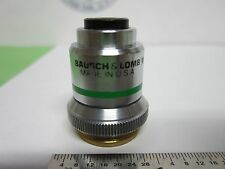 MICROSCOPE OBJECTIVE BAUSCH LOMB 10X 16 mm OPTICS BIN#5K-H-1