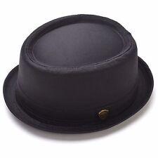 Porkpie Fedora Hat Cotton Roll-Up Band Trilby Cuban Caps 100% Cotton  – PMT 112