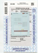 Pacific Electric Freight Motors Decals-- Microscale 60-589 - N Scale-