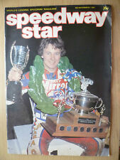 SPEEDWAY STAR MAGAZINE- 07 November 1981 VOL. 30 NO.34