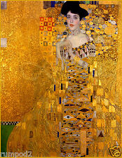 Vintage painting/ Woman in Gold by Gustav Klimt portrait of Adele Bloch Bauer