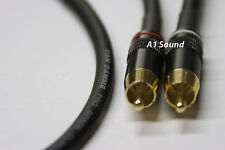 Van Damme Black Ultra 2.0 Metre Pair interconnect Cables RCA To RCA (Phono) NEW