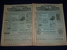1888-1889 THE ILLUSTRATED LONDON NEWS MAGAZINE LOT OF 5 - EIFFEL TOWER - O 2334