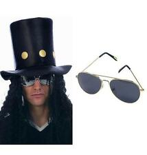 Slash Rocker Hat Wig Glasses Guns N Roses Heavy Metal Fancy Dress