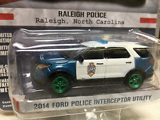 Greenlight 1/64 GREEN MACHINE Raleigh, NC Police 2014 Ford PI Utility SUV
