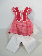 American Girl Doll Marie Grace Clothes Meet Outfit Dress Pantaloons Pink NIB