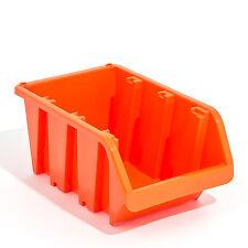 40 Stapelboxen In-Box Sichtlagerkästen Sichtlagerbox Kunststoff orange Gr. 3