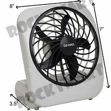O2 COOL Portable Personal Fan Battery 2 Speed Camping 5 inch Gray RM2019